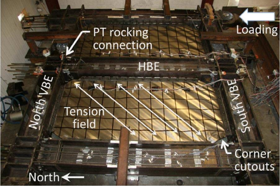 self-centering steel plate shear wall