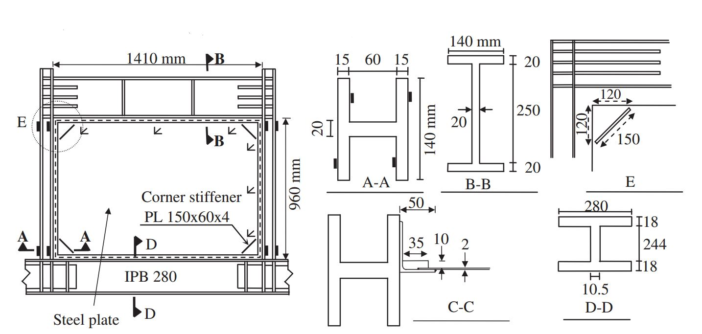 Experimental and theoretical studies of steel shear walls with and without stiffeners